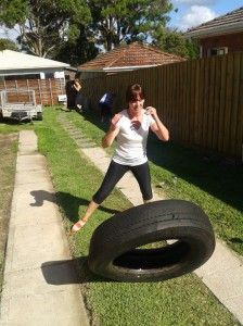 Tyre flipping is a full body workout, all on its own!