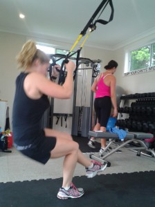 Using the TRX for balance, you can also perform these on the Power Plate