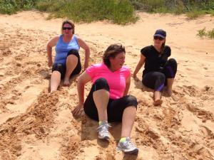 Never a fun exercise, even less so when you shoes are full of an extra couple of kilos of sand...