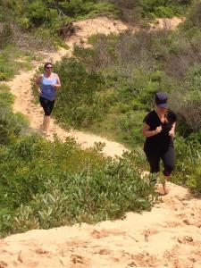 Down the sandhill (not much easier)
