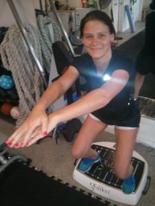 Susie doing her workout at IntoYou (sorry Suze!)