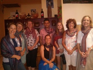 Binod, in the centre, runs several tasting events where proceeds go to Nepalese charities.