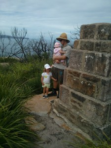 Checking out the old lighthouse buildings