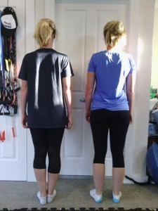 Rear photo for posture analysis