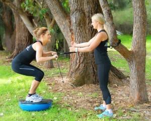 Helen training in Curl Curl