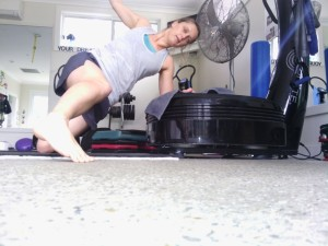 Step over hover. 60 seconds on each side
