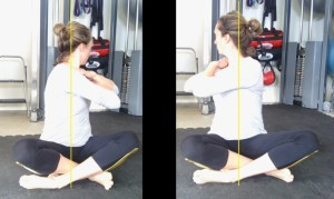 Achieving a more symmetrical thoracic twist was a part of Deb's rehabilitation