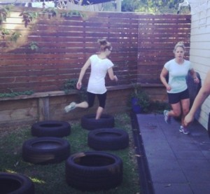 Obstacle courses: chuck the tyres randomly then hop through the middle of each one in a great test of agility.