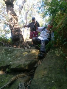 An example of the descent, which was tricky in places!